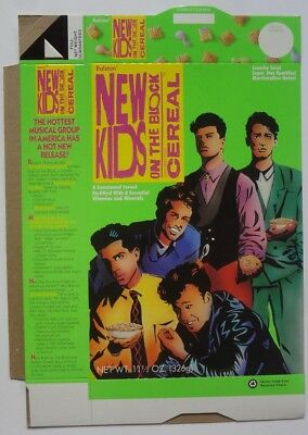 New Kids On The Block Cereal Box Ralston 1990 Donnie Wahlberg Mint Flat