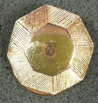 Vtg Jewelry Brooch Scarf Clip Gold Tone Metal Unique Classic Design Beautiful...