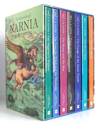 THE CHRONICLES OF NARNIA Collector's Edition Box Set C.S. Lewis full-color VG L1