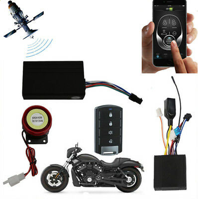 Motorcycle GPS Tracker Kit One Way Remote Engine Start Alarm for Android iOS APP