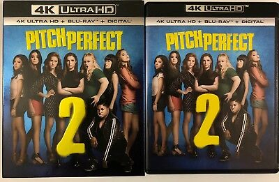 Pitch Perfect 2 4K Ultra Hd Blu Ray 2 Disc Set Slipcover Sleeve Free World Ship