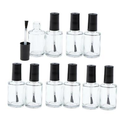 Wholesale Empty Nail Polish Bottle Clear Glass With Agitator Mixing Balls