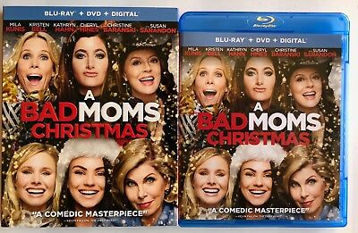 A Bad Moms Christmas Blu Ray Dvd 2 Disc Set + Slipcover Sleeve Free Shipping