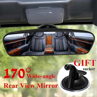 Car Rear Mirror Wide-angle Flat Interior Rear View Mirror With Sucker MMWE