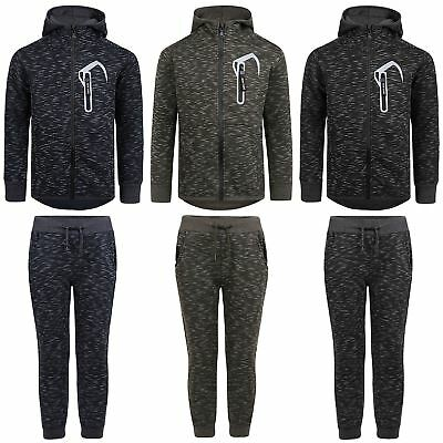 Kids 2 Piece Tracksuit Boys Girls Hood Top Jumper Jogging Bottoms Pants 3-14 Y