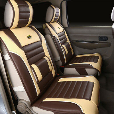Luxury Full Surround PU Leather Car Seat Cushion Cover Support Pad For All Car