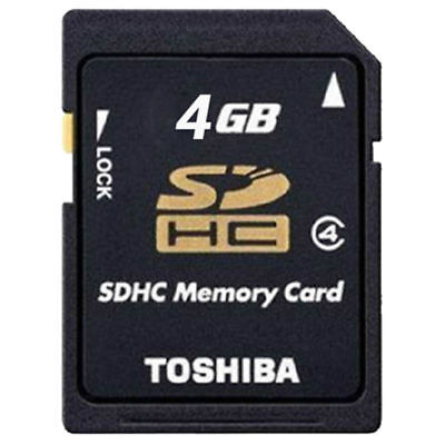 TOSHIBA 4GB SD Standard Black Secure Digital Genuine Memory Card SDHC for camera