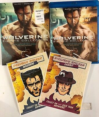 Wolverine 2 Movie Collection Blu Ray + Slipcover Walmart Exclusive Stickers Xmen