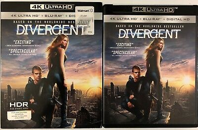 Divergent 4K Ultra Hd Blu Ray 2 Disc Set Slipcover Sleeve Free World Shipping