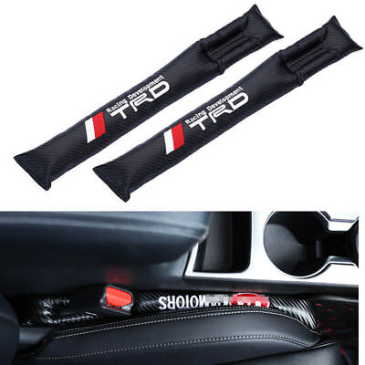2x TRD Top Carbon fiber Car Seat Cover Gap Padding Holster Filler for all Toyota