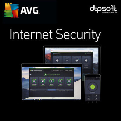 AVG Internet Security 1 PC 2019 Antivirus 2018 2 anni IT EU