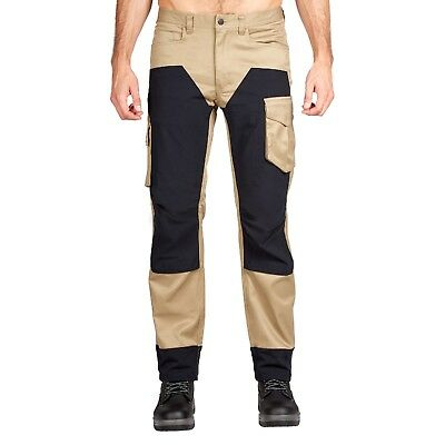 Hard Yakka Legends 3D Stretch Pants in Khaki/Black 87R - 87cm / 34 Inches