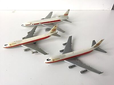 Lot of 3 Vintage TWA TOY AIRPLANES Trans World Airlines