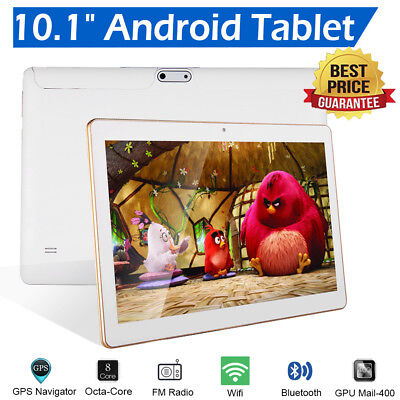 10.1 Inch Android Tablet 64GB Octa-Core 6.0 Dual Camera Bluetooth Wifi Tablet UK