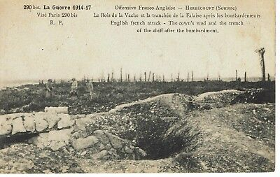 CPA-Carte postale-  France -HERBECOURT - Offensive Franco anglaise -14-18
