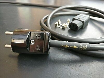 EWA MC-5 mains power cable for audio. High performance, New. Schuko.