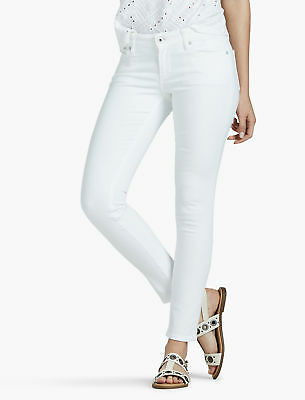 Lucky Brand Lolita Mid Rise Skinny In Clean White