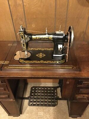 40 WHITE FAMILY Rotary Sewing Machine Rare Mission Style Enchanting 1913 White Rotary Sewing Machine