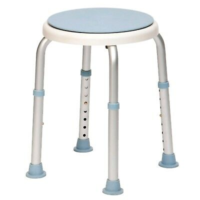 Round Adjustable Rotating Rounded Bath / Shower Stool with Swivel Seat