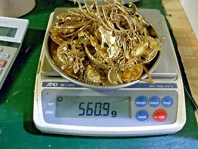 560.8 grams ,gold plate,gold tone  Scrap or not ,Jewelry  ,no reserve