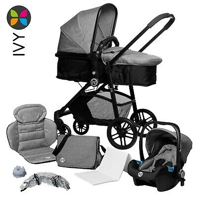 Kombi-Kinderwagen Set 3-in 1 Buggy Sportwagen Wickeltasche mehrteilig Travel IVY