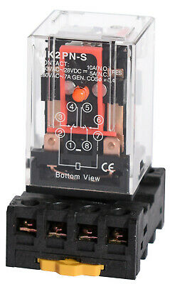 Ice Cube General Purpose Relay + Socket Choose Pin Configuration Voltage AC/DC
