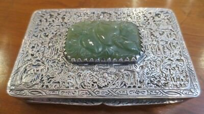 Austrian Silver and Chinese Jade Snuff Box