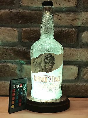 New Unique Buffalo Trace Whisky Remote LED Bottle Lamp Man Cave Birthday Gift