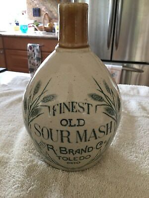 The R. Brand Co - Finest Old Sour Mash Jug - Toledo, Ohio