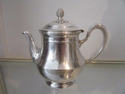 Early 20th c french silverplate christofle teapot Louis XVI st