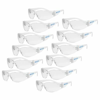 12 Pair Jorestech Clear Uv Lens Lot Safety Glasses Bulk New