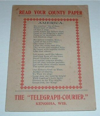 Vintage Ad The Telegraph - Courier Kenosha WI Read Your Country Paper America