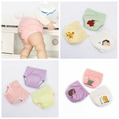 1Pcs Cute Baby Cloth Diaper Panties Boys Girls Reusable Washable Infants Nappies