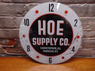 "Vintage and Rare ~ ""Hoe Supply"" Pam Clock Face ~ 14.5"" ~ 1961 ~"