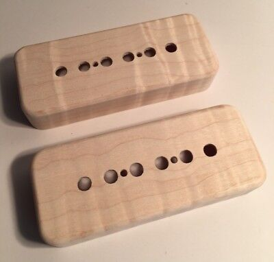 GUILFORD FLAME MAPLE P-90 Pickup Covers - Set Of 3 - Gibson, Lollar