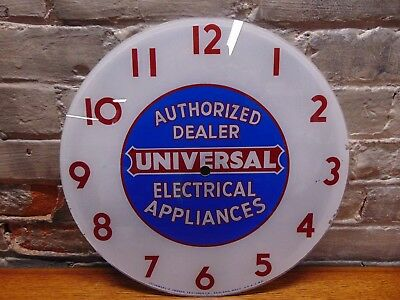 "Vtg ~""Authorized Universal Electrical Appliances Dealer"" Telechron Clock Face"