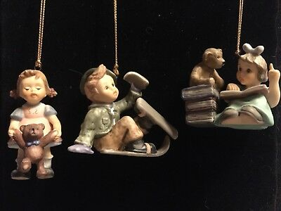Lot of Studio Hummel Ornaments year 2002 collection