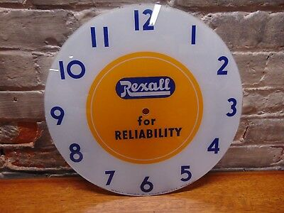 "Vintage & Rare ~""Rexall for Reliability"" Advertising ~ Telechron Clock Face"