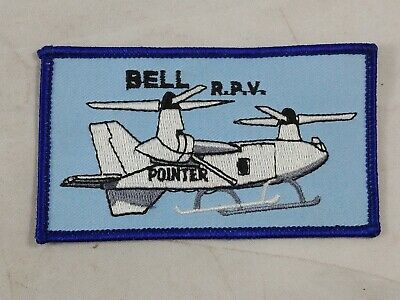 "Bell RPV Patch Bell-Boeing ""Pointer"" Helicopter Tilt-rotor Remote Blue Gray"