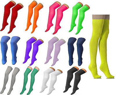 New Ladies Women Over The Knee Socks Thigh High Adults Girls Stretchy OTK Socks
