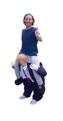 Carry Me Ride A President Trump Buddy Piggy Back On Shoulder Donald Costume Mask