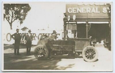 1920'S Rp Npu Postcard Hand-Made Car Outside General Store Pt Lincoln Sa D66