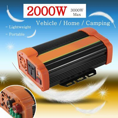 Modified Sine Wave Power Inverter 2000W (3000W) Max12V DC-240V AC Partable X5