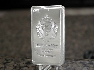 Scottsdale Mint 10oz Stacker .999 Fine Silver Bar, No Reserve & Free Shipping!