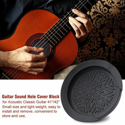 Classic Acoustic Guitar Bass Screeching Halt Sound Hole Cover Block Plug Rubber