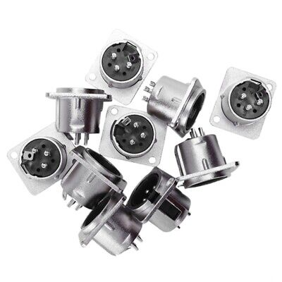 10 x XLR Male Chassis Panel Mount Socket 3 Pin Audio Studio Connector Q9S9