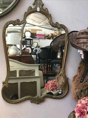 Lovely Large French Style Ornately Carved Gilt / Gold Framed Wall Mirror