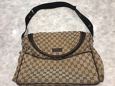 Gucci Diaper Bag 100% Authentic Taupe G's