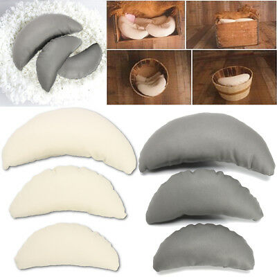 3X Newborn Baby Girl Boy Infant PU Leather Moon Pillow Photo Photography Prop US