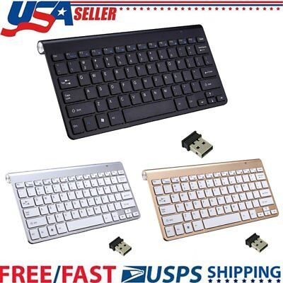 New Wireless Keyboard And Mouse Combo Set 2.4G For Mac Laptop PC Full Size Slim